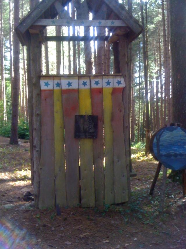 An open air elf house