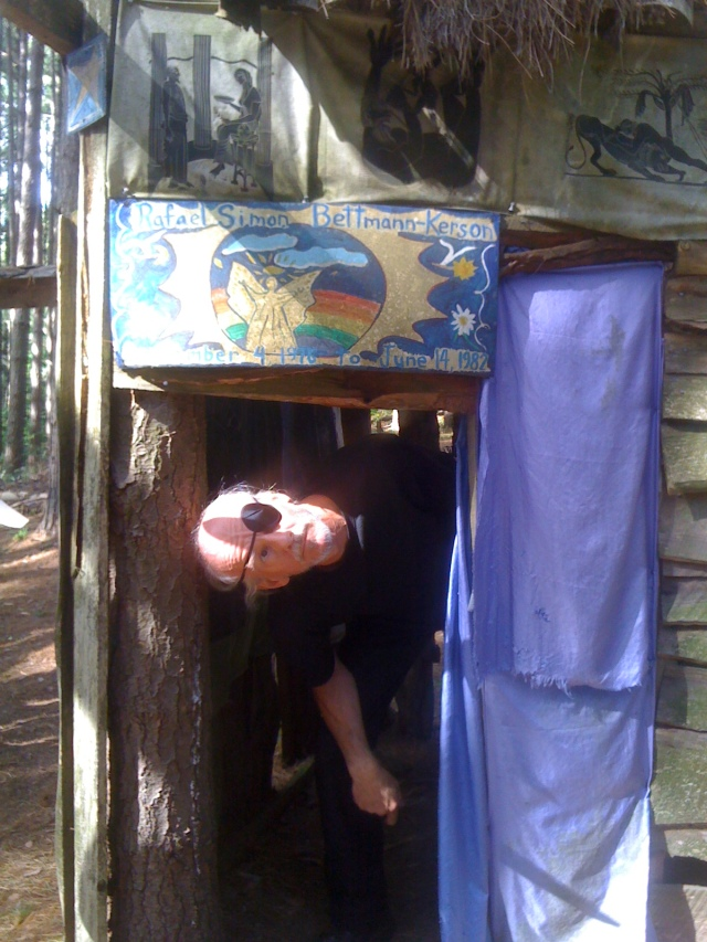 'Pirate' John playing in this colorful elf house