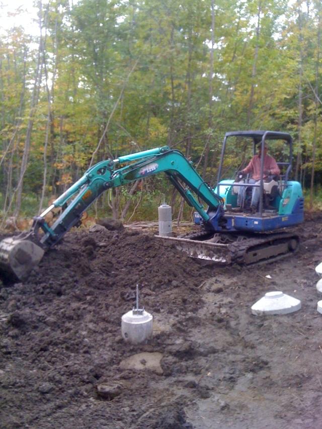 Ben digging holes for posts