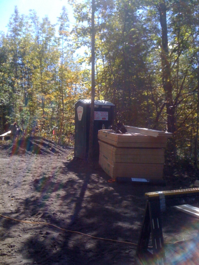 The most important item on a job site - the portable toilet!