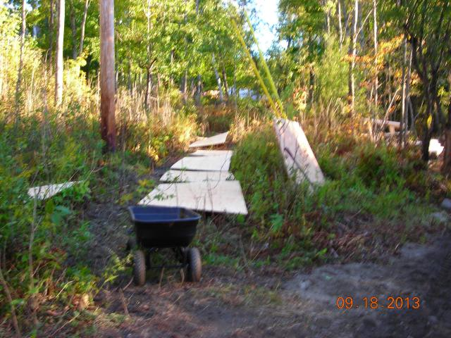 The 'runway' of pre-screwed plywood to go under floor frame